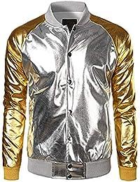 Suchergebnis Auf Amazon De Fur Bomberjacke Herren Silber Bekleidung