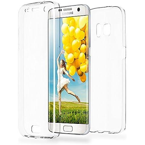 Caso doble para Samsung Galaxy S7 Edge | Funda de silicona transparente cubre todo | Delgada 360° completa casos del smartphone OneFlow | Back Cover en