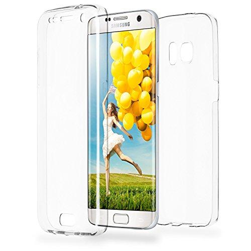 Doppia cassa come nome del Samsung Galaxy S7 Edge | Trasparente Custodia in silicone copre l'intero | Thin 360° completa casi di smartphone per OneFlow | Quarta di copertina in Incolore