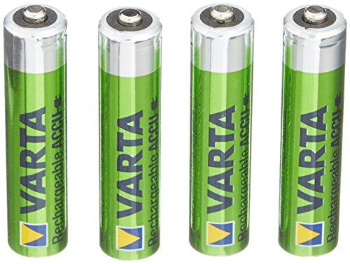 Varta - Paquete de 4 pilas AAA NiMH (1,2 V, 800 mAh)