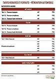 UTTSCHEID Affichage des tarifs horaires des réparations Automobiles - A4