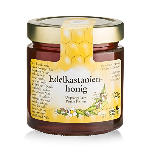Edelkastanienhonig kräftige, malzige, leicht zartbittere Honigspezialität aus der Region Piemont - 500-g-Glas