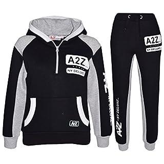 A2Z 4 Kids® Kids Tracksuit Boys Girls Designer's A2Z NY Deluxe Edition - T.S A2Z NY 001 Black 7-8
