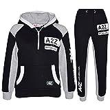 A2Z 4 Kids® Kinder Trainingsanzug Jungen Mädchen Designer A2Z NY DELUXE Edition Aufdruck - T.S A2Z NY 001 Black 7-8