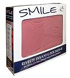 COPRIDIVANO 3 POSTI SMILE LOVELY HOME FINO A 230CM (rosa)