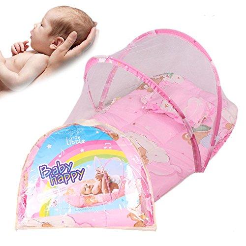 candora Baby Tragbare Folding Travel Gitterbett Bett für 0-2Jahre Baby Baldachin Moskitonetz Zelt mit Kissen - Baldachin Möbel Schlafzimmer