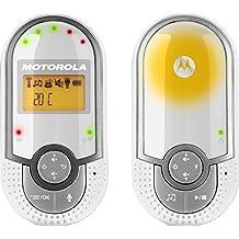 """Motorola MBP16 , Baby Monitor Audio Digitale con schermo LCD da 1.5"""", Bianco/Grigio"""