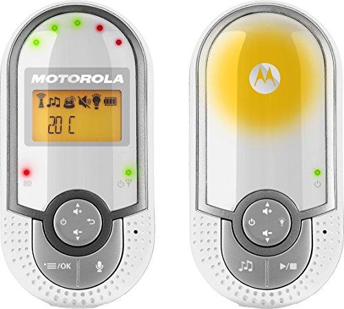 Motorola MBP 16 | Digitales DECT-Babyphone | Audioüberwachung | Mit Nachtlicht und 2-Wege-Kommunikation