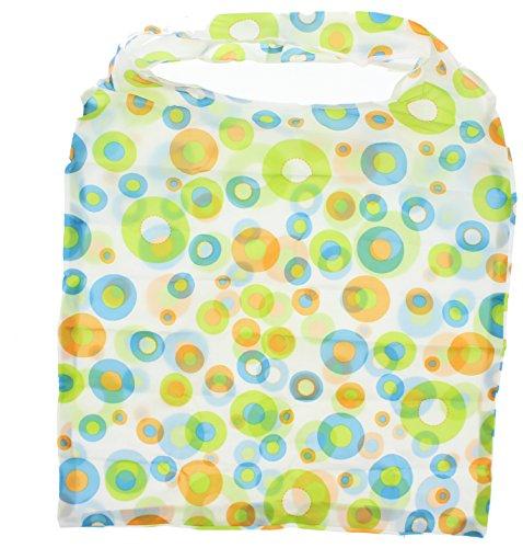 Zac 's Alter Ego® Einkaufstasche in/Waschtisch aufsteckbar Pocket Tasche Green with Circle Print