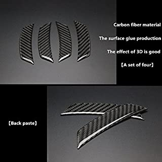 Biznon Set of 4 Car Styling Carbon Fibre Wheel Eyebrow Anticollision Protective Decorative Adhesive Moulding Carbon Badge Fender Wheel Edge Strip Sticker Designed to fit all cars
