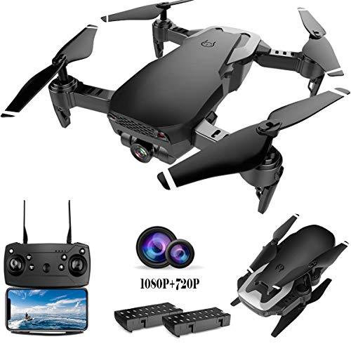 Pengrui Drohne mit Dual Kamera 1080P und 720P HD Kamera WiFi FPV Live Übertragung,RC Quadrocopter,Follow-Me-Modus, Optischer Flugstabilisator,Gestensteuerung,Ideal Faltdrohne für Anfänger und Kinder