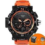 SMAEL serie deporte reloj marca relojes LED Digital wristwach multifuncional reloj de los hombres LED Cronómetro 1531S Shock reloj deportivo, color naranja