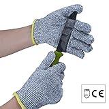 Level 5Hand Schutz Cut Resistant Arbeitshandschuhe, Küche Handschuh/EN388Lebensmittelqualität Sicherheit Handschuhe/Baumeister Handschuhe (1Paar)