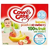 Cow & Gate Banana, Peach & Strawberry 100% Fruit with Vitamin C from 4-36 Months