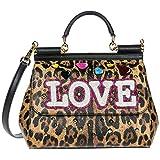 Dolce & Gabbana Leder Handtasche Damen Tasche Bag sicily Braun