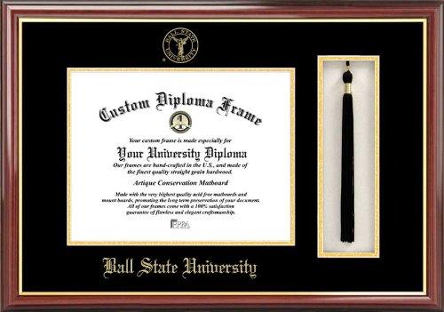 CAMPUS TELECOM NCAA Ball State Cardinals Quaste Box und Diplom Rahmen