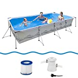 Jilong Passaat Swimming Pool Set 300x207x70 cm mit rechteck Becken