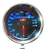 Yosoo Universal Motorrad Messrad kmh Tachometer-Messgerät Hintergrundbeleuchtung LED Dual-Signal