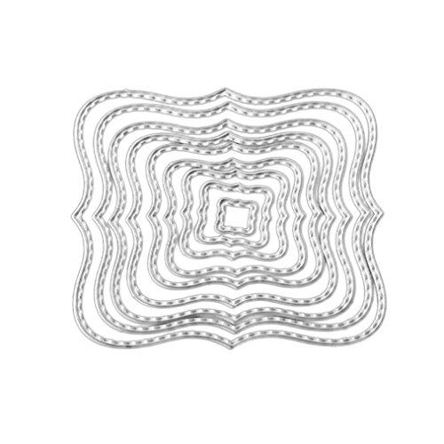 Jaminy Exquisites Muster Metall Stanzen Schneiden stirbt Schablone für DIY Scrapbooking Album Papier Karte Dekor Handwerk (C)