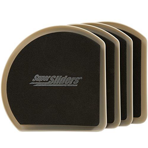 Preisvergleich Produktbild wiederverwendbar Slide & Hide Möbel Movers für Teppichböden Oberflächen (4 Stück) – Große Heavy Duty 7 supersliders von Super Regler