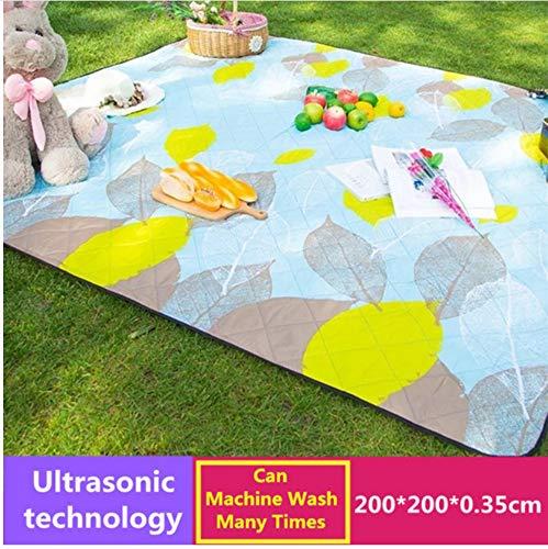 Maschine waschbar 200 cm * 200 cm Isomatte Picknick Matten Outdoor Strand Zelt Mat Blanket Kinder Plaid Yoga Baby Teppich Handwäsche Pad, B