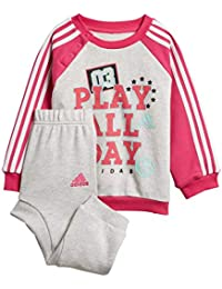 Adidas I Graph Jogg FT - Conjunto Deportivo, Unisex Infantil, Gris(BRGRCL/MAGREA/Blanco/MENCLA)
