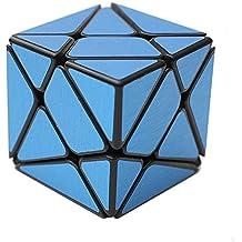 MZStech Axis Especial forma cubo mágico Negro Kingkong con pegatinas (Azul)