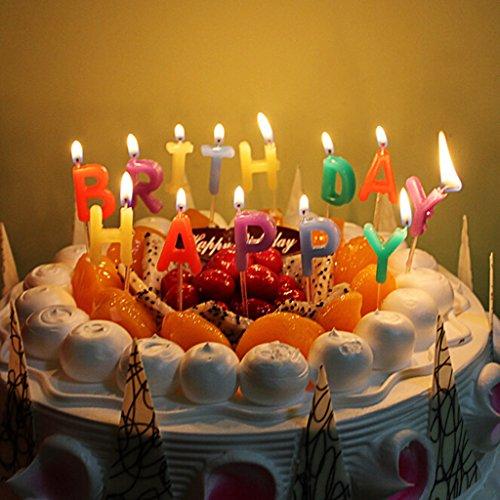 Buchstaben Kerzen Kuchen Deckel Für Babys Kinder Party Feier (Geburtstag-kuchen-deckel)