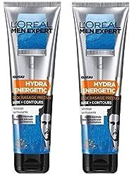 L'Oréal Men Expert Gel de Rasage Hydra Energétique X Barbe de 3 Jours 150 ml - Lot de 2