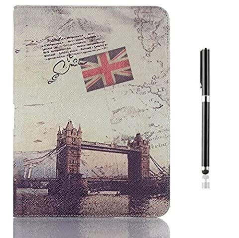 inShang housse Pour Samsung Galaxy Tab 4 10.1 Etui Smart Cover Pour Tablette Samsung 10 inch Galaxy Tab 4 T530 / T531 (2014 released) support coque en PU cuir + Qualit¨¦ Pens Haute Stylet capacitif