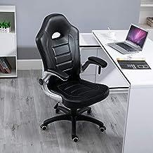 Samincom Silla ergonómica de Gran tamaño para Juegos, Silla de Escritorio para Oficina, giratoria
