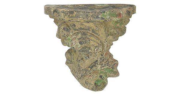 """Esschert Design /""""Wandkonsole/"""" Moos aus dem Material /""""Terracotta/"""" 27,4 x 14,7 x 26,6 cm"""