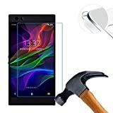 2 X Pack Hart Panzerglasfolie Schutzfolie für Razer Phone 5.7 Zoll Tempered Glass Folie Screen Protector Panzerfolie Glasfolie(Nur den flachen Teil abdecken)