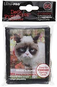 Ultra Pro - 330716 - Jeu De Cartes - Housse De Protection - Grumpy Cat Flowers 50 - D12