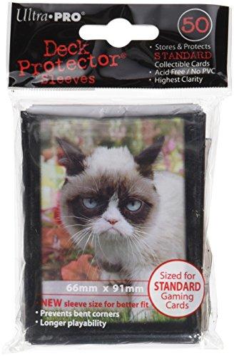 Ultra Pro 84445 - Deck-Schutz Standard Sleeves, Grumpy Cat Flowers - Cat Deck