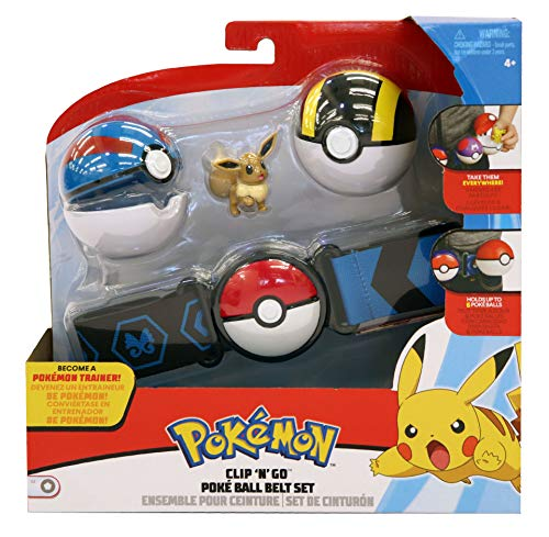 Pokémon Clip 'N' Go Wave 2 - Eevee & Great + Ultra Ball - Newest Edition 2019