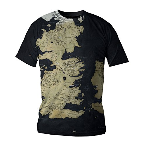Game of Thrones T-Shirt Westeros Map Deluxe Edition Size S SD Toys