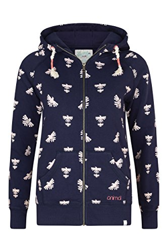 Animal Damen Hoody Jewel Mai Full Zip Midnight Blau