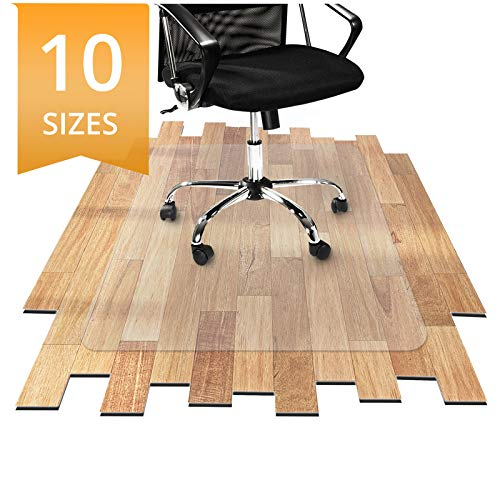 etm® PVC Chair Mat, Hard Floor Protection - 75x120cm (2.5'x4') | Mult