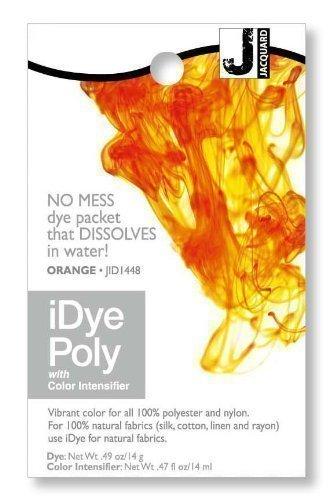 Jacquard iDye Poly - Stoff Farbstoff für Polyester und Nylon (Verschiedenen Farben Erhältlich) - Orange (Gelb Stoff Farbstoff)