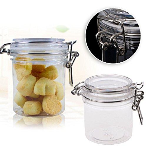 qiman PETP Lagerung von Lebensmitteln Milch Pulver Box Zange Deckel Air Dicht versiegelt Verriegelung Küche 01#