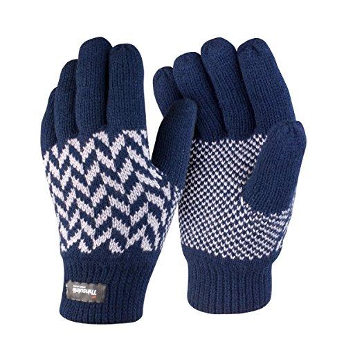 Result - Gants thermiques Thinsulate - Adulte unisexe Bleu marine/Gris
