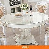 Tischdecke/runde,weiches glas,pvc tischset/transparent,wasserdichte tischdecken/tischtuch/kristall-teller/couchtisch mat-A Durchmesser130cm(51inch)