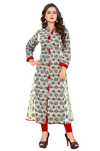 vaikunth fabrics Women's Cotton Multi Color Kurtis
