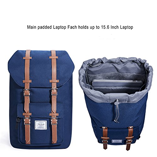 Imagen de kalidi 17 pulgadas laptop  backpack  escolar para hasta 15.6 pulgadas laptop notebook computer trabajo campus estudiantes outdoor viajes senderismo con gran capacidad azul alternativa
