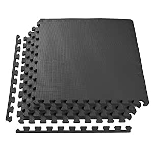 PROIRON Interlocking Foam Floor Mats Exercise Gym Puzzle Mat Protective Mats Play Mat Tiles Floor Guards for Garage and Outdoor Matting-16 SQ FT