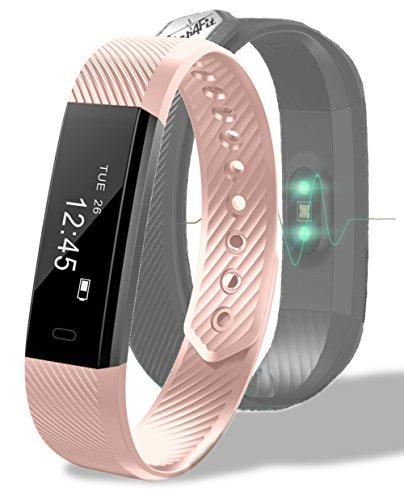 Step4Fit Dünnster Fitness Tracker mit Herzfrequenz der Welt | Fitness Armbanduhr Fitnesstracker | Ultra leicht nur 17g | Deutscher Service und Versand | Fitness Armband