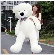 YunNasi gigante Teddy oso de peluche animal de felpa 120 cm blanco