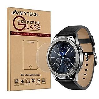 Samsung Gear S3 Schutzfolie, AmyTech Panzerglas Displayschutzfolie für Samsung Gear S3 Frontier Samsung Gear S3 Classic 3 Stück (Samsung Gear S3 Classic)
