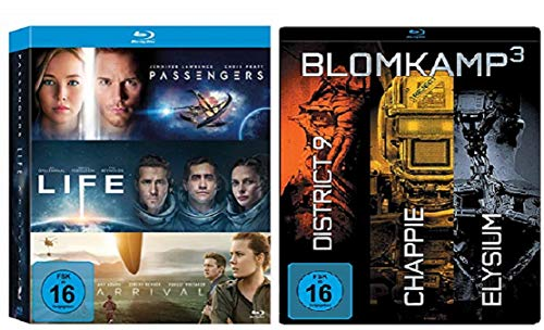 Arrival / Life / Passengers + Chappie / District 9 / Elysium [Blu-ray Box Set]